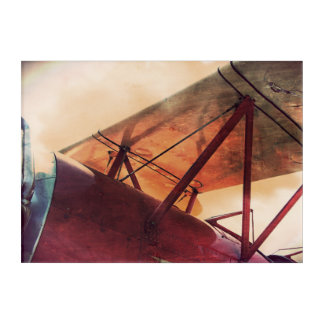 Red Wing Antique Airplane Acrylic Print