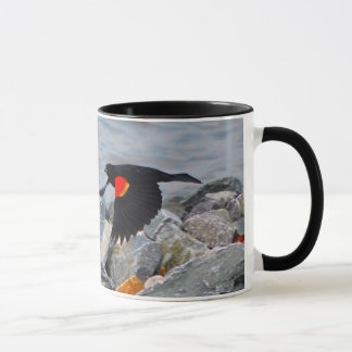 RED-WINGED BLACKBIRD - mug