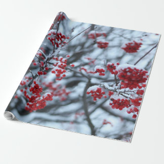 Red Winter Berries Wrapping Paper