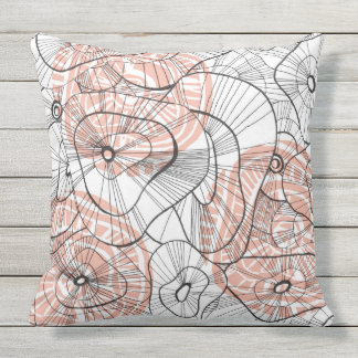 Red winter flowers cushion