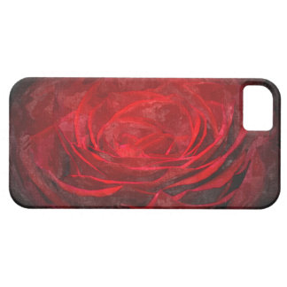 Red Winter Glow Shadow Rose Gothic IPhone Case