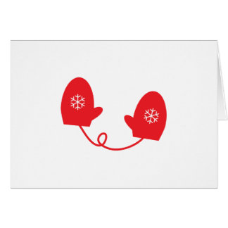 Red Winter Mittens Card