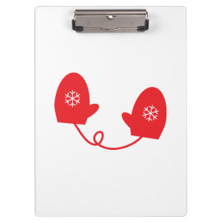 Red Winter Mittens Clipboard