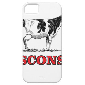 red Wisconsin cow iPhone 5 Cases