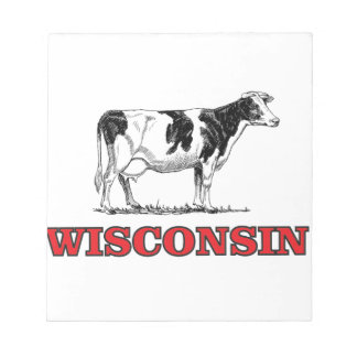 red Wisconsin cow Notepad