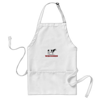 red Wisconsin cow Standard Apron