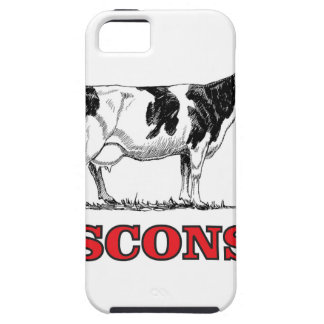 red Wisconsin cow Tough iPhone 5 Case