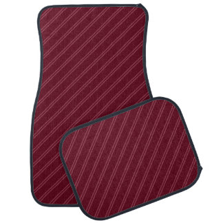 Red with Double Pin Stripes Car Mat Full Set