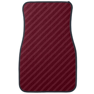 Red with Double Pin Stripes Front Car Mat