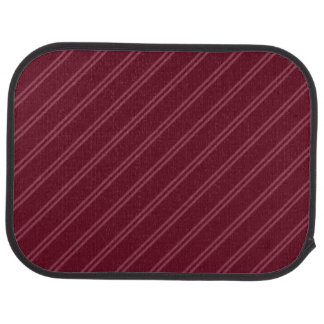 Red with Double Pin Stripes Rear Car Mat