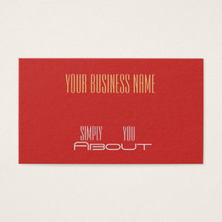 Red  with Gold Text> Professional Business Cards