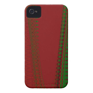 red with green pattern Blackberry Case