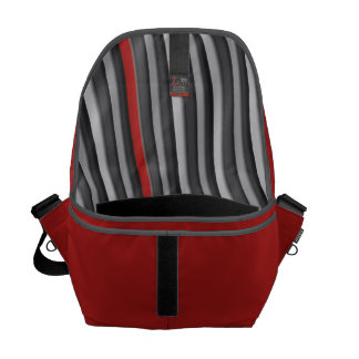 Red with Pin Stripe Lining Courier Bag