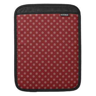 RED WITH PINK POLKA DOTS PATTERN iPad SLEEVES