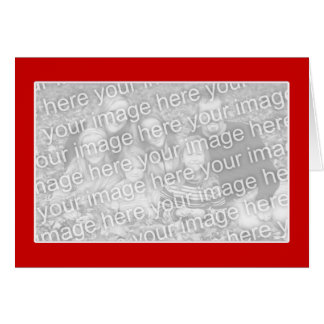 Red with White Border (photo frame) Greeting Card