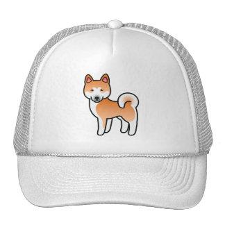 Red With White Mask Akita Cartoon Dog Cap