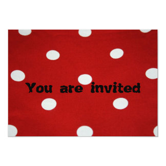 Red with White Spots You are invited 13 Cm X 18 Cm Invitation Card