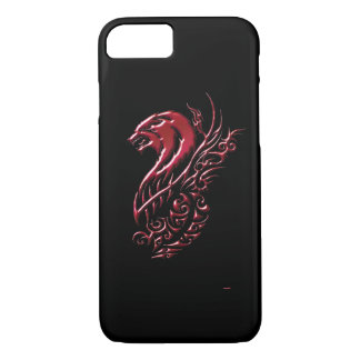 Red Wolf Black iPhone 8/7 Case