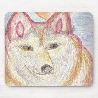 Red Wolf Mousepad
