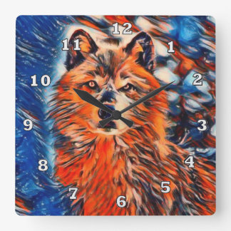 Red Wolf Wolves Wildlife Clock