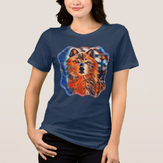Red Wolf Woves Wildlife Relaxed Fit Tee