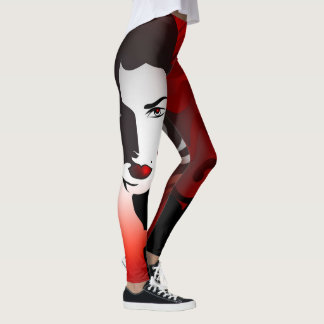 Red Woman Abstract Leggings