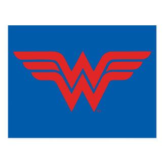 Red Wonder Woman Logo Postcard