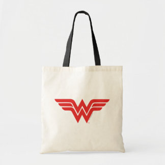 Red Wonder Woman Logo Tote Bag