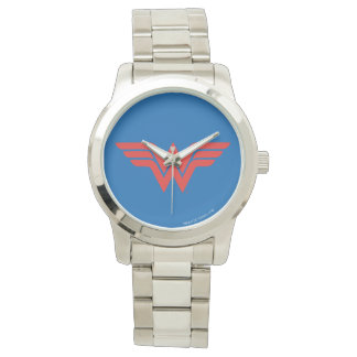 Red Wonder Woman Logo Watch
