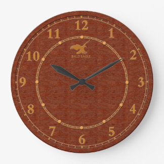 Red Wood Decorative 4-b Modern Wall Clock Sale