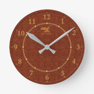 Red Wood Decorative 4-c Modern Wall Clock Sale
