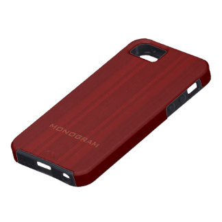 Red Wood Look With Vertical Stripes Texture iPhone 5 Cases