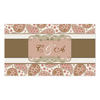 Red WoodBerry Classic Wedding place card Business Card Template