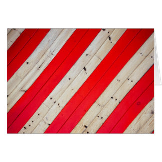 Red Wooded Stripes Greeting Card