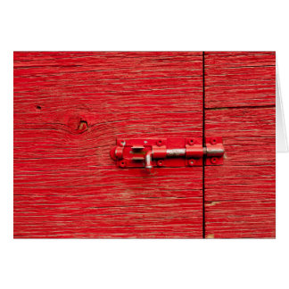 Red Wooden Bolt Card