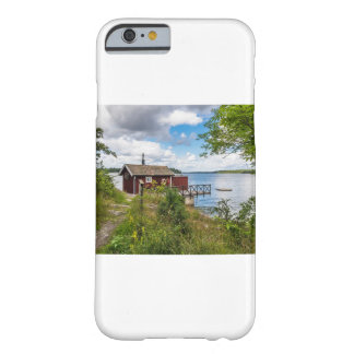 Red wooden cottage in Sweden Barely There iPhone 6 Case