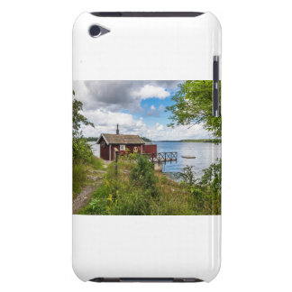 Red wooden cottage in Sweden Barely There iPod Cover