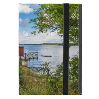 Red wooden cottage in Sweden iPad Mini Case