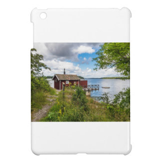 Red wooden cottage in Sweden iPad Mini Cover