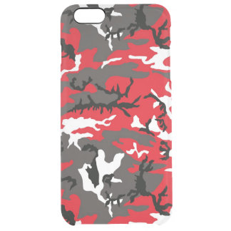 Red Woodland Camo Uncommon Clearly™ Deflector iPhone 6 Plus Case