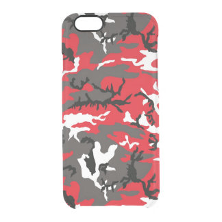 Red Woodland Camo Uncommon Clearly™ Deflector iPhone 6 Case