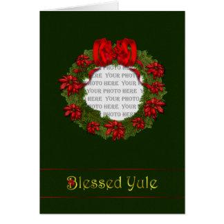 Red Wreath Yule Card