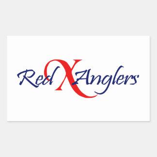 Red X Angler Sticker Transparent