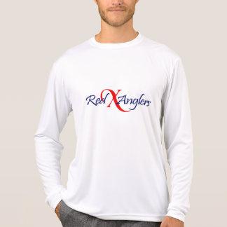 Red X Anglers logo sport tek long sleeve T Shirts