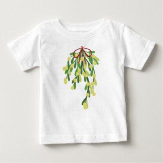 red xmas mistletoe baby T-Shirt