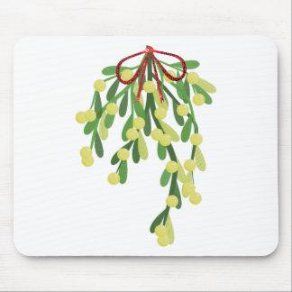 red xmas mistletoe mouse pad
