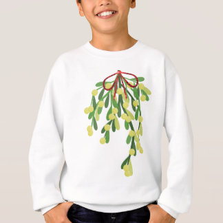 red xmas mistletoe sweatshirt