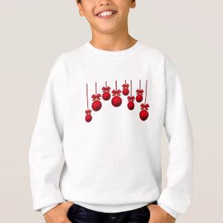 red xmas ornament sweatshirt