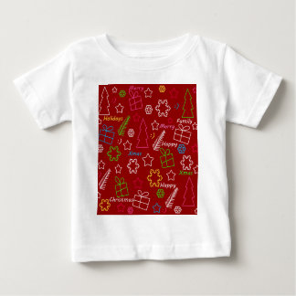Red Xmas pattern Baby T-Shirt