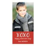 Red XOXO Valentine Photo Card